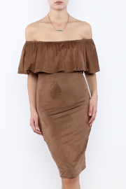 Towne Ultra Suede Dress - Product Mini Image