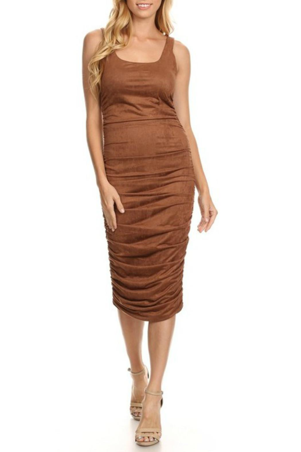 Towne Ultra Suede Midi Dress From Long Island Shoptiques