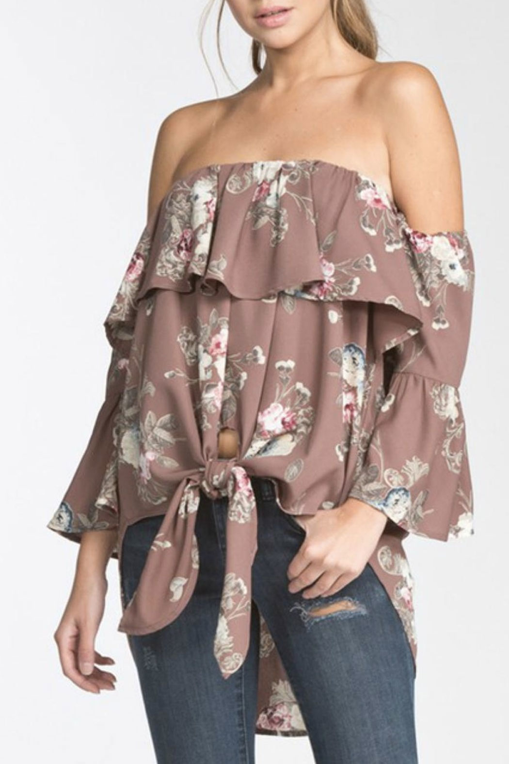 Towne Vintage Print Top - Front Cropped Image