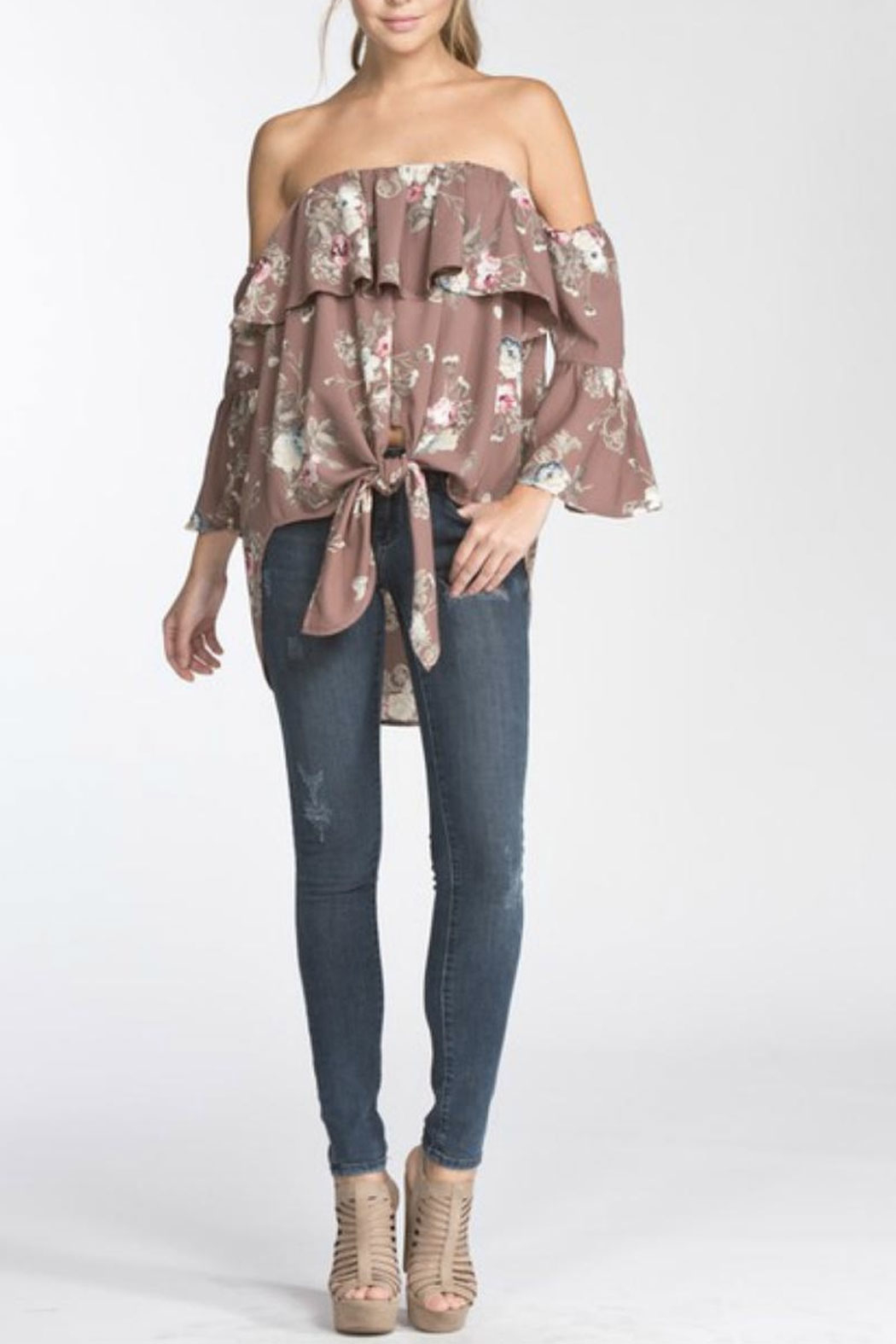 Towne Vintage Print Top - Front Full Image