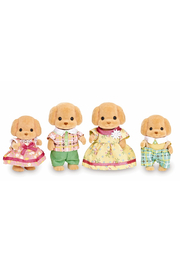 Calico Critters Toy Poodle Family - Front cropped