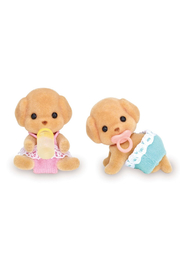 Calico Critters Toy Poodle Twins - Front cropped