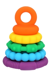 Toyology Rainbow Stacking Teether - Front cropped