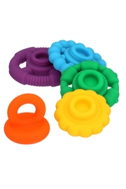 Toyology Rainbow Stacking Teether - Front full body