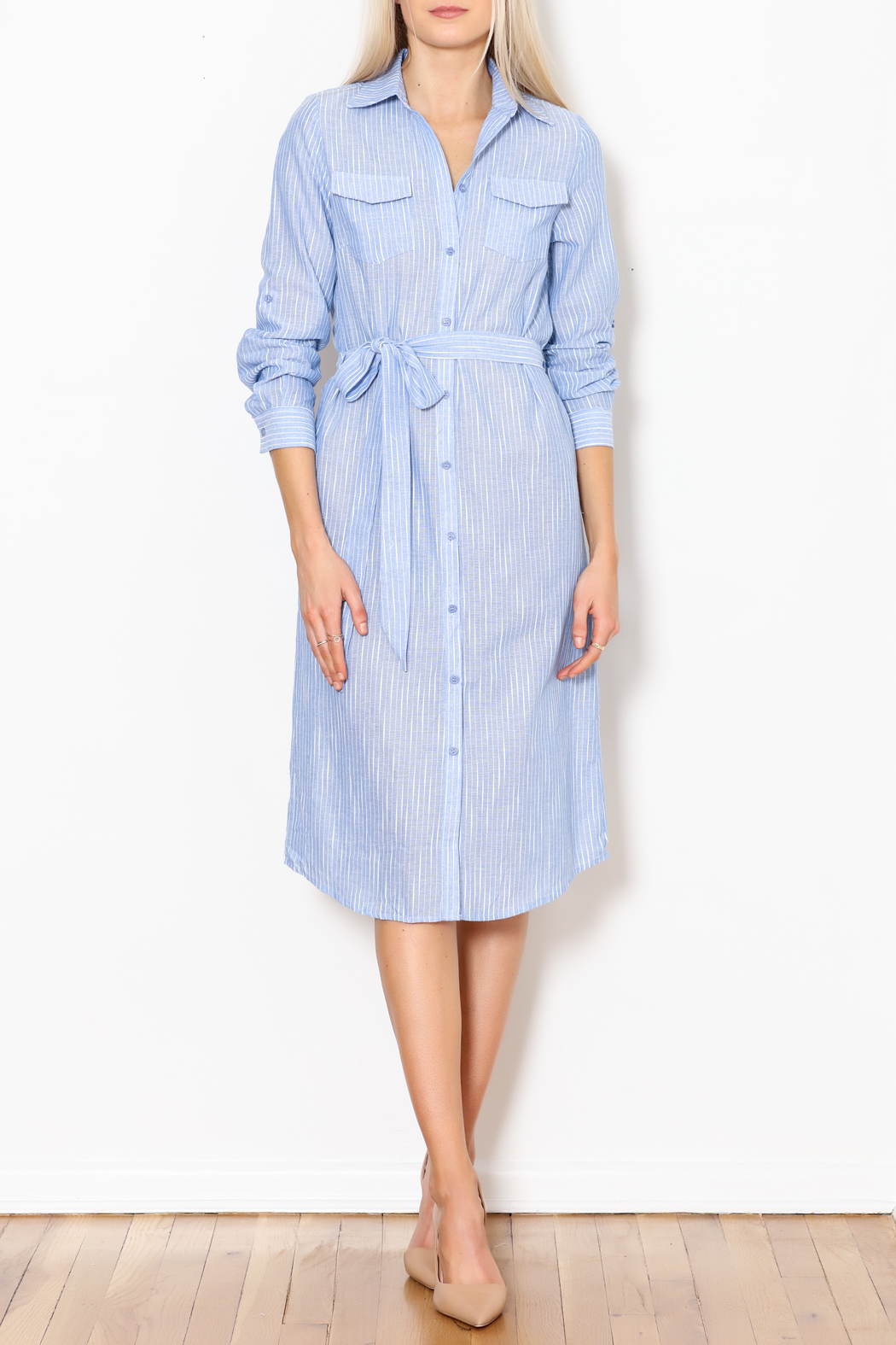 Trac Button Down Dress - Side Cropped Image