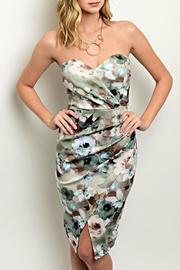 Trac Strapless Floral Dress - Product Mini Image