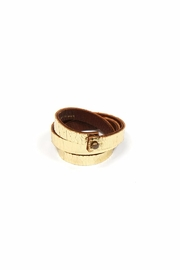 Shoptiques Product: Leather Triple Wrap Cuff