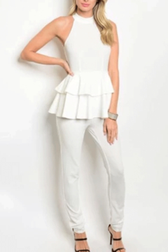 Tracie's 1 Piece White Jumpsuit - Alternate List Image