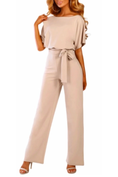 Tracie's Belted Wide Leg Jumpsuit - Product List Image