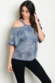 Tracie's Black Indigo Top - Product Mini Image