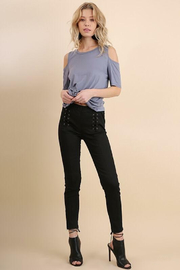 Tracie's Black Lace Up Jegging - Product Mini Image