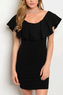 Tracie's Black Ruffle Dress - Product List Image