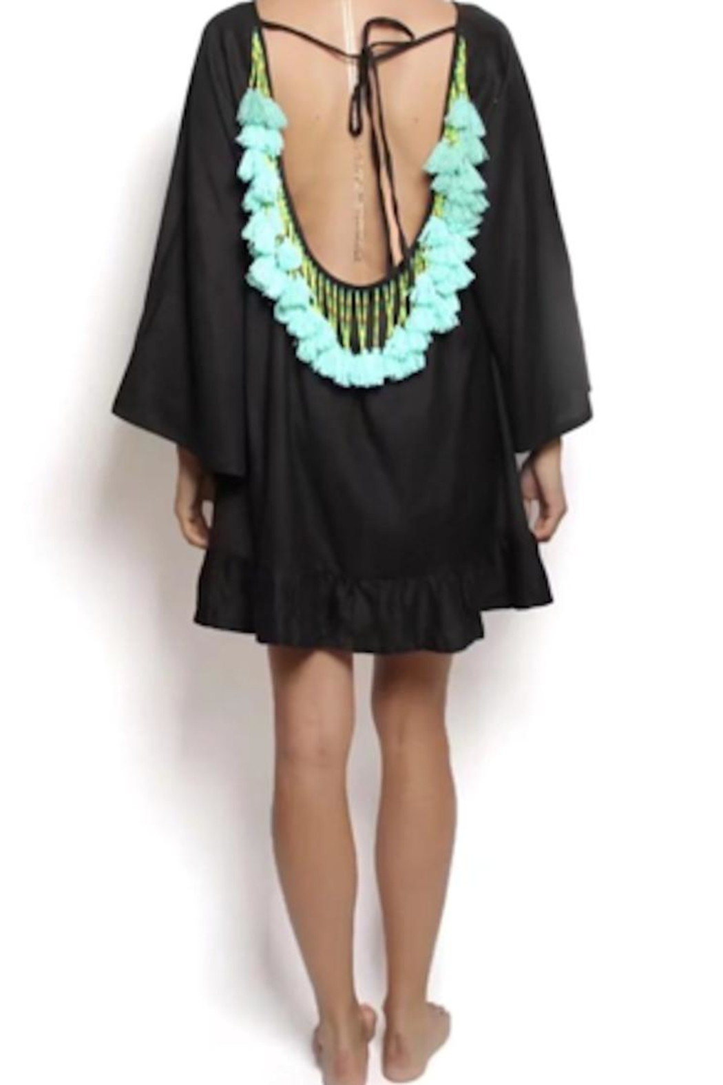 Tracie's Boho Turquoise Swimcoverup - Front Cropped Image