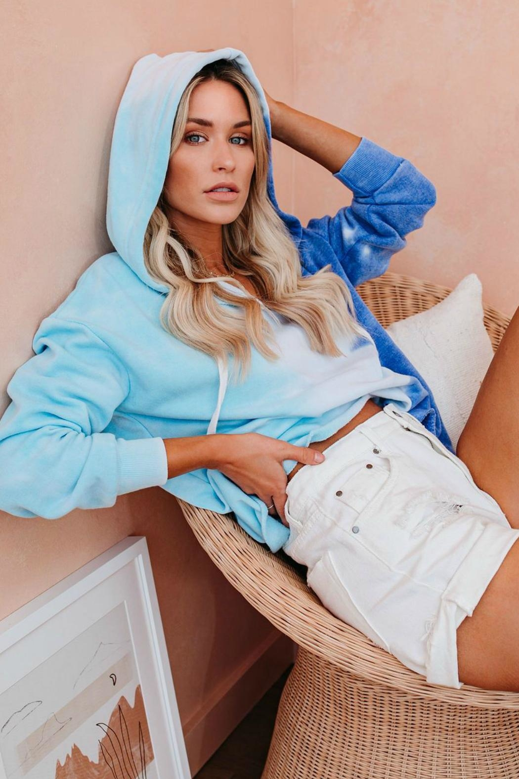 Tracie's Dive Into Summer Hoodie - Side Cropped Image
