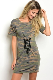 Tracie's Laceup Camouflage Dress - Product Mini Image
