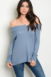 Tracie's Light Blue Off The Shoulder - Product Mini Image