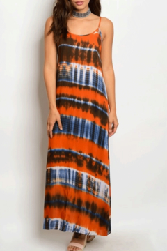 Tracie's Orange Tie Dye Maxi Dress - Product List Image