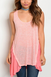 Tracie's Pink Tunic - Front cropped