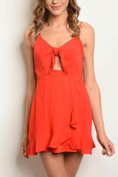 Shoptiques Product: Red Dress With Front Tie
