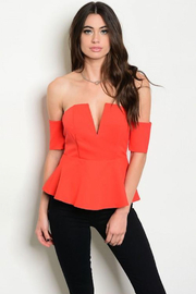 Tracie's Red Strapless Top - Product Mini Image