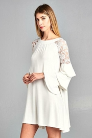 Tracie's Solid Lace Dress - Product Mini Image