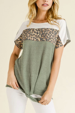 Tracie's Spring Leopard Top With Tie - Product List Image