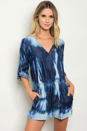 Tracie's Tye-Dye 3/4 Sleeve Short Romper - Product Mini Image