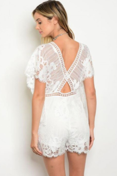 Tracie's White lace Romper - Alternate List Image