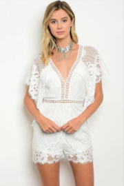 Tracie's White lace Romper - Product Mini Image