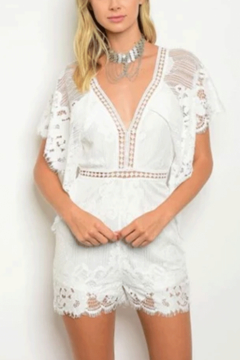 Tracie's White Lace Romper - Product List Image