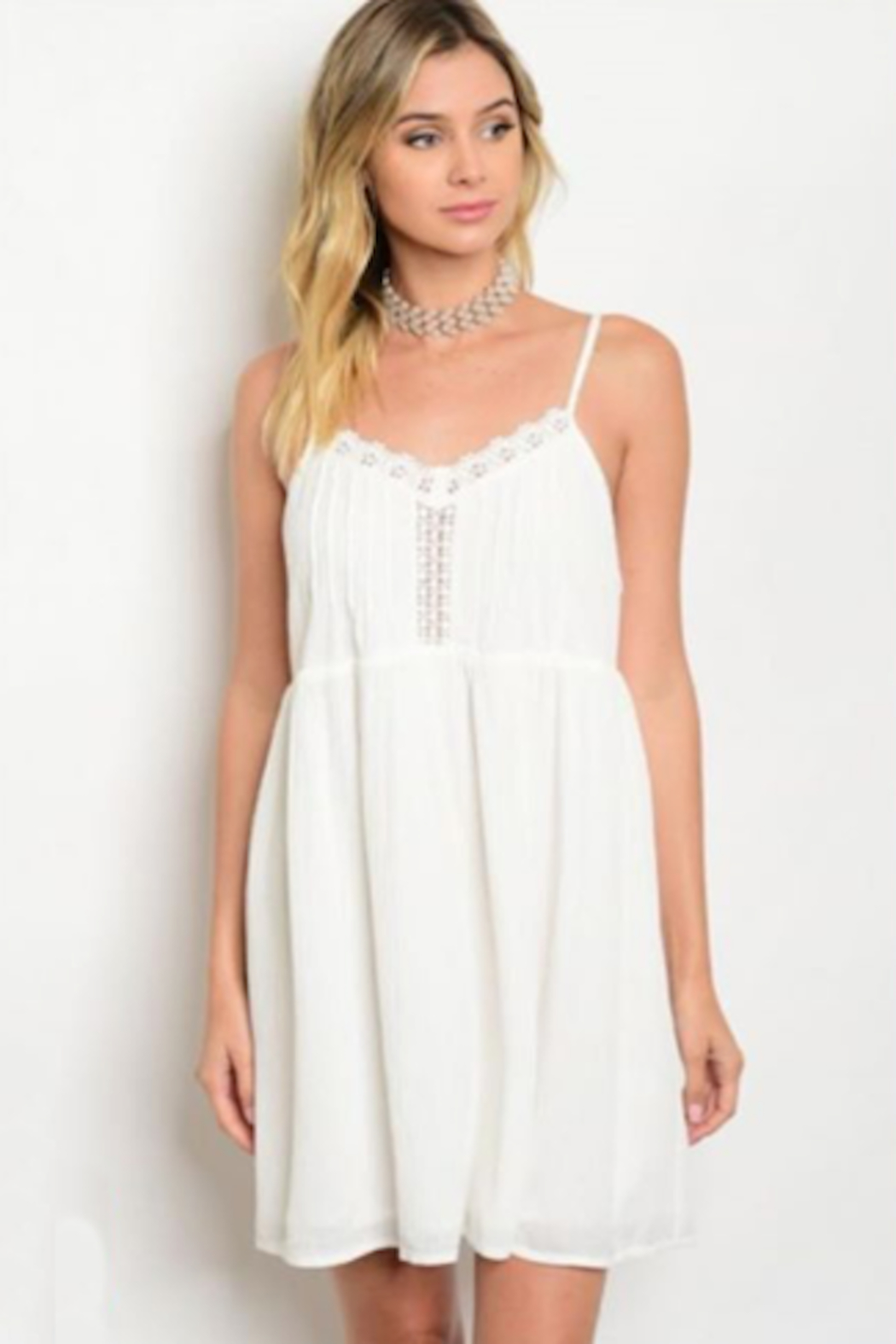 Tracie's White Summer Dress - Main Image