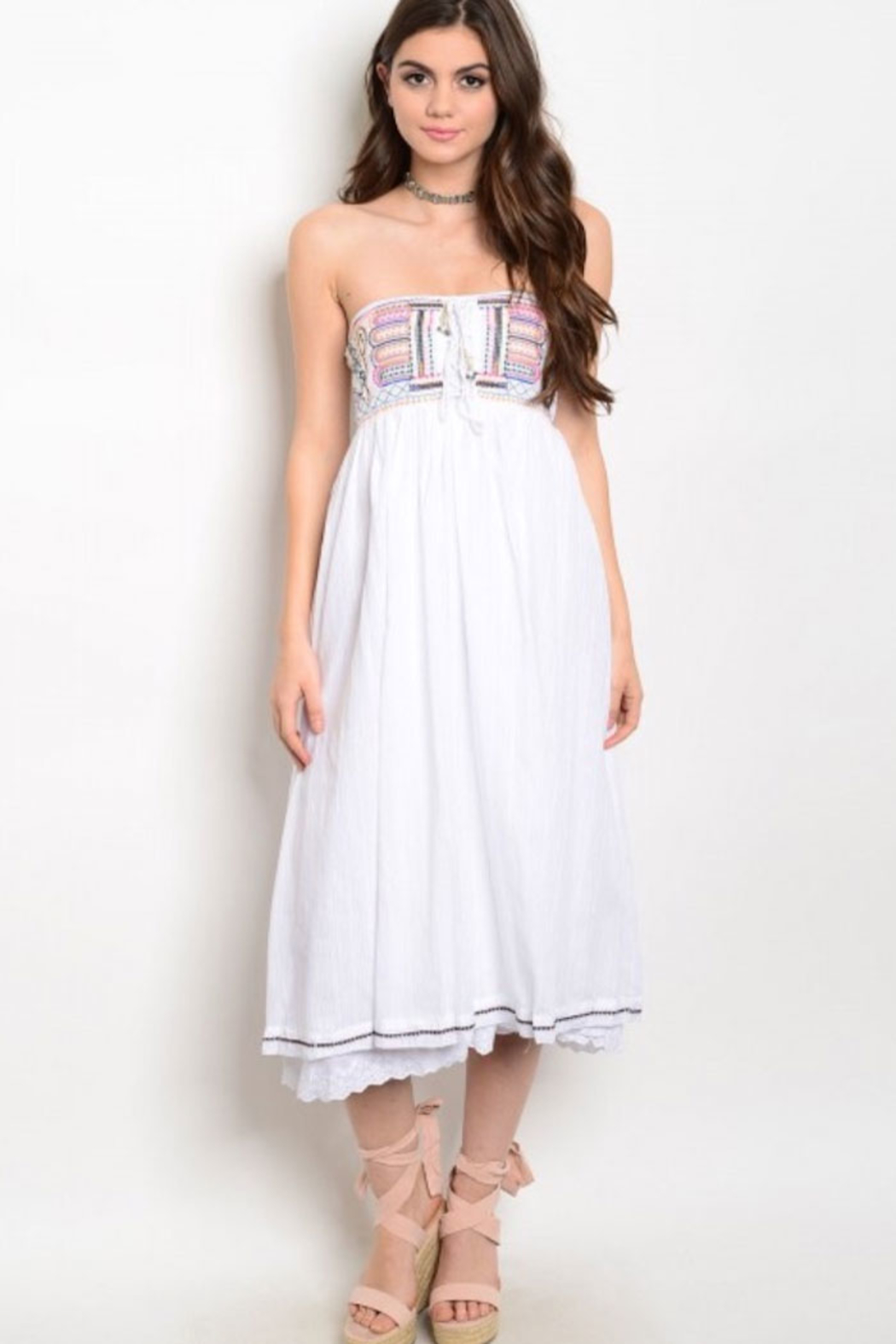 Tracie's White Tribal Dress - Main Image