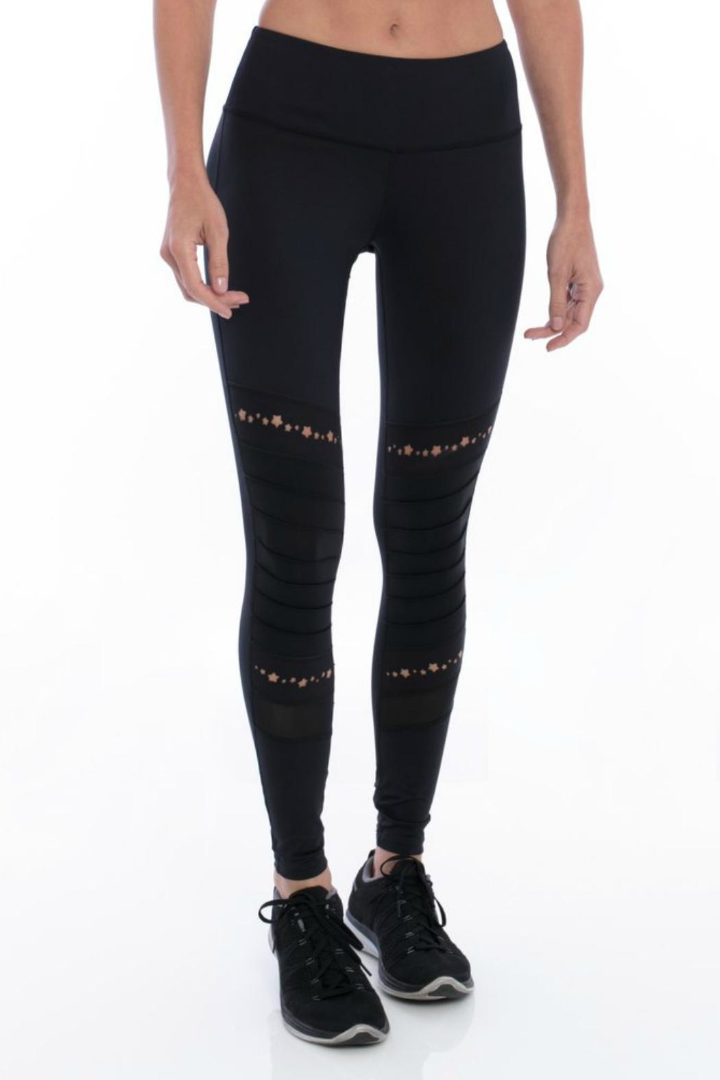 Track & Bliss Stars Moto Legging - Front Cropped Image