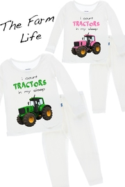 Kickee Pants Tractor Long-Sleeve Pajama-Set - Front cropped
