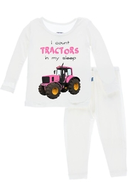 Kickee Pants Tractor Long-Sleeve Pajama-Set - Side cropped
