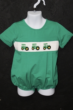 Shoptiques Product: Tractor Smocked Bubble