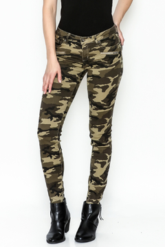Tractr Blu Camouflage Skinny Jeans - Product List Image
