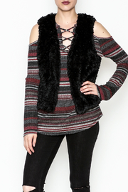 Tractr Blu Faux Fur Vest - Product Mini Image