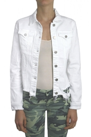 Tractr Destroyed Jean Jacket - Front cropped