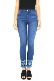 Tractr Embroidered Hem Jean - Product Mini Image