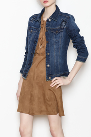 Tractr Floral Embroidered Jacket - Front full body