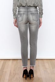 Tractr Gray Distressed Jeans - Back cropped
