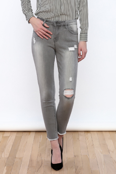 Tractr Gray Distressed Jeans - Product List Image