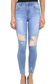 Tractr Blu Ankle Crop Skinny - Front cropped
