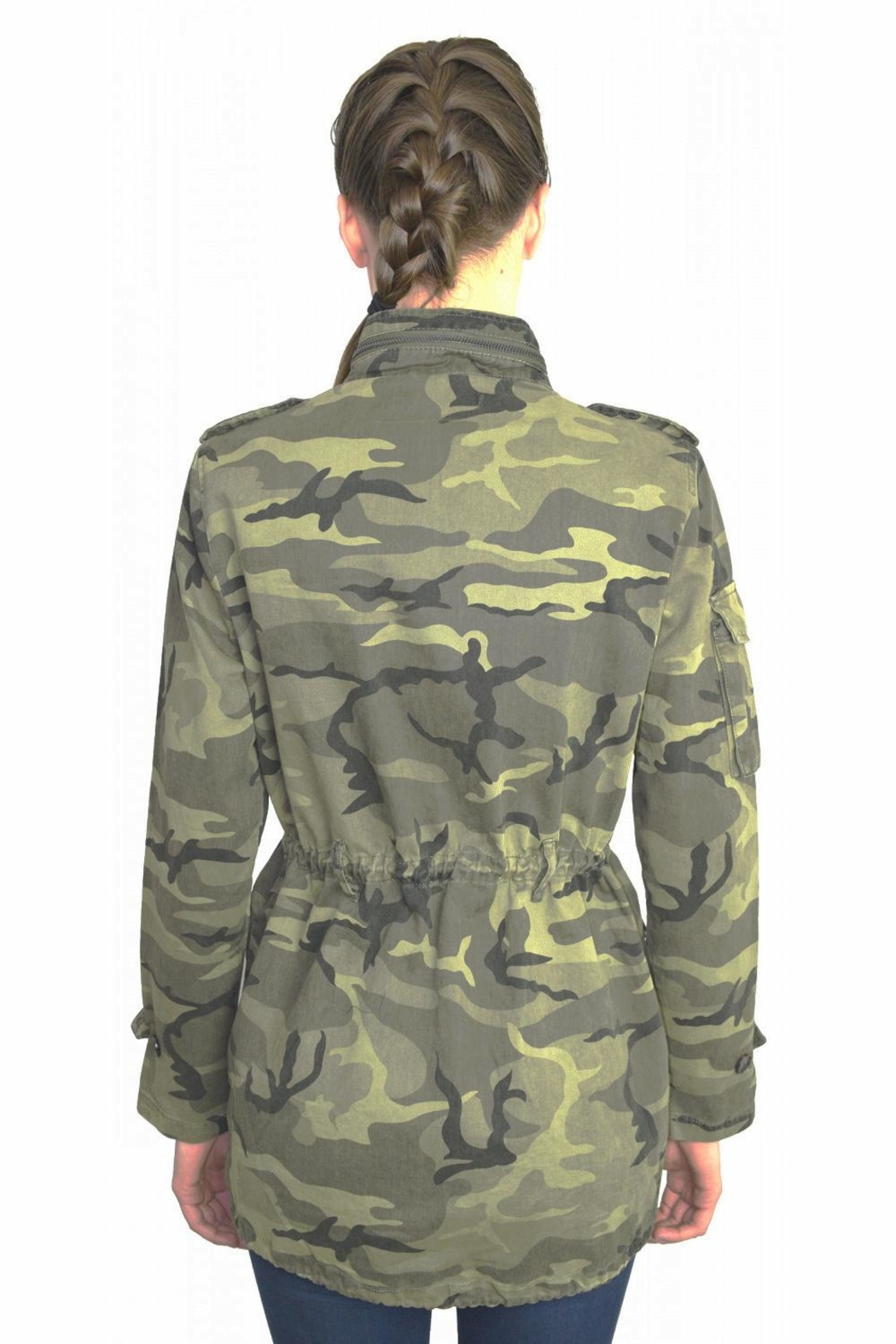 Tractr Blu Camo Jacket - Side Cropped Image