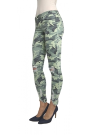 Tractr Blu Distressed Camo Jean - Front full body