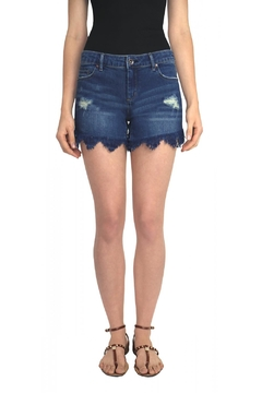 Tractr Blu Frayed Cut-Off Short - Alternate List Image