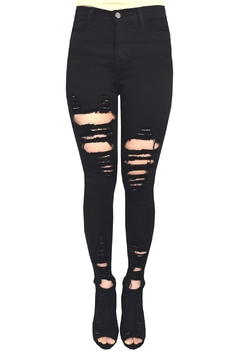 Tractr Blu Katie Distressed Jean - Product List Image