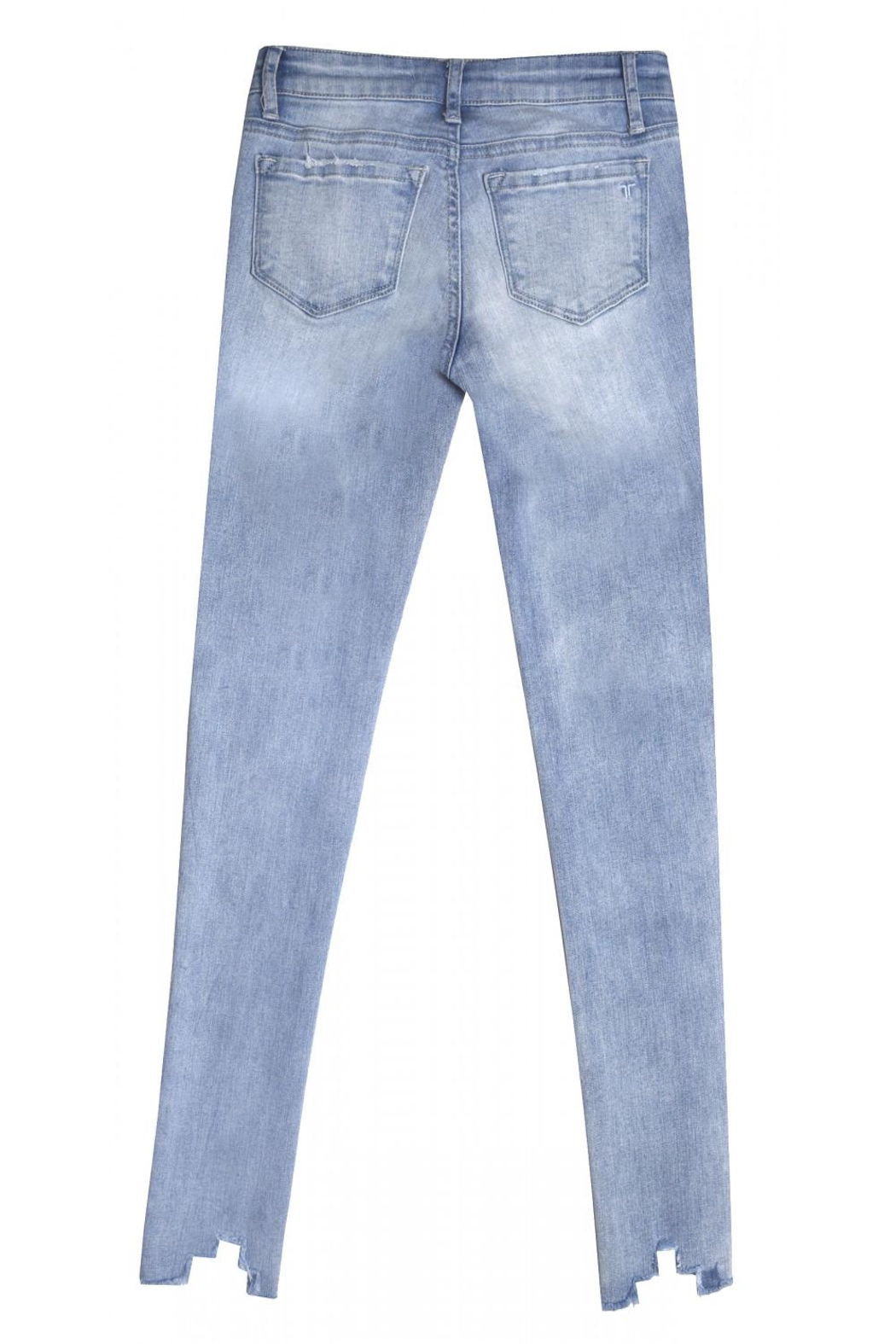Tractr Blu Pastel Embroidered Jean - Front Full Image