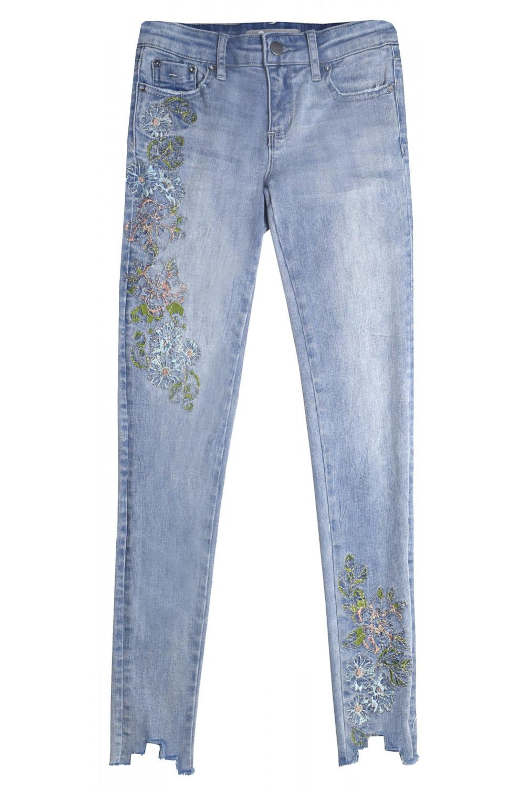 Tractr Blu Pastel Embroidered Jean - Main Image